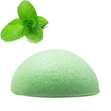 Natural Peppermint Konjac Sponge, ideal for problem skin